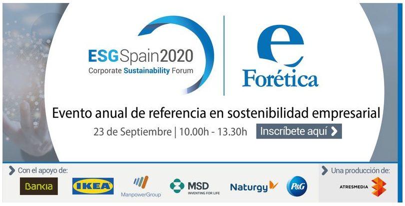 ESG Spain 2020: Corporate Sustainability Forum (23 de septiembre)