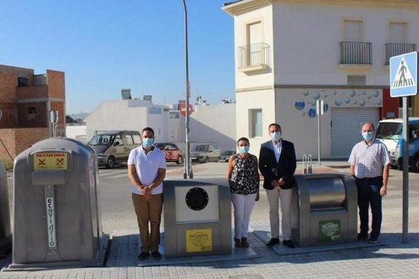 Córdoba: Implementados cuatro nuevos puntos de contenedores soterrados en Aguilar de la Frontera