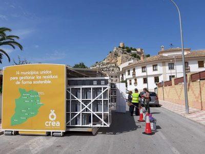 Alicante: Jornada de concienciación sobre el reciclaje de residuos en el ecoparque móvil de Castalla