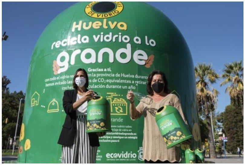 Andalucía: Ecovidrio instala un contenedor gigante en Huelva para sensibilizar sobre reciclaje