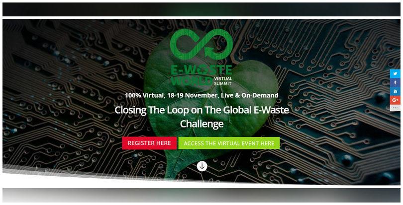 ERP participa en la E-Waste World Conference 2020 (18 y 19 de noviembre)