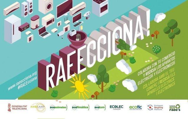 """Valencia: En marcha de nuevo la campaña """"RAECCIONA"""" para el reciclaje de aparatos electrónicos"""