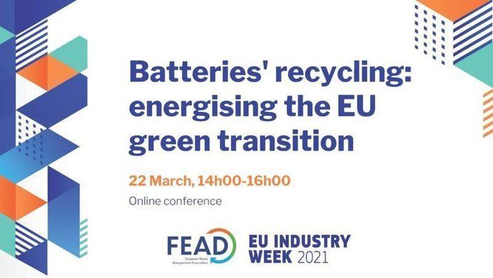 Evento online de FEAD sobre reciclaje de acumuladores y baterías (22 marzo)