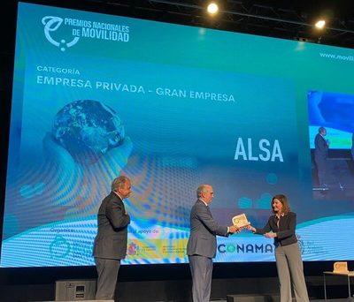 La empresa ALSA, galardonada con el Premio Nacional de Movilidad por su estrategia medioambiental