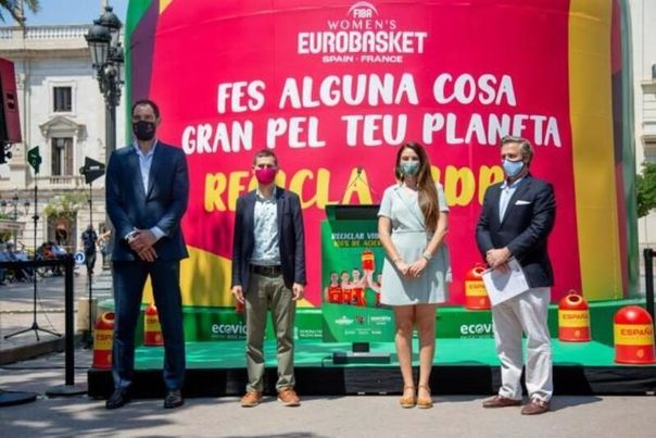 Ecovidrio y la FEB promueven el reciclaje durante el Eurobasket femenino 2021