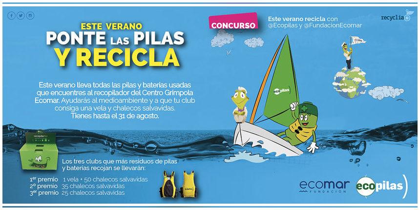 78 escuelas y clubs náuticos de toda España se suman a la recogida de pilas un verano más