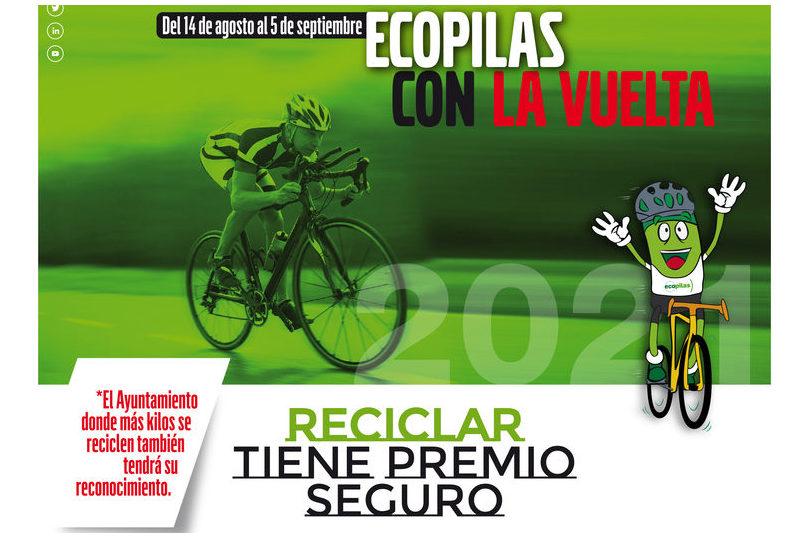 ECOPILAS prevé recoger 2.000 kilos de pilas durante la presente edición de la Vuelta a España