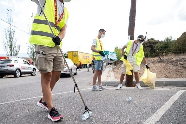 Ecovidrio recoge más de 1.400 kilos de de residuos en La Vuelta más sostenible de su historia