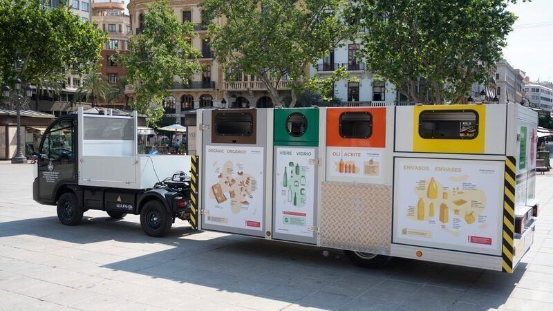 Valencia: Ciutat Vella estrena sistema de recogida de basuras mediante plataformas portátiles
