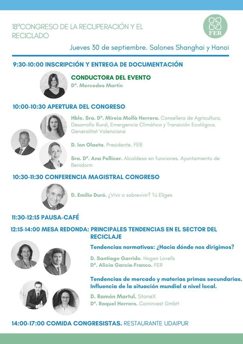 Hoy da comienzo el 18º Congreso de la Recuperación y el Reciclado
