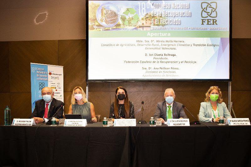 El 18º Congreso de FER reúne en Benidorm a más de 400 representantes de la industria española del reciclaje