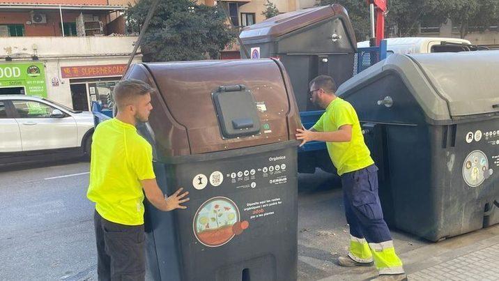 Baleares: Iniciada la instalación de contenedores marrones en 21 barrios de Palma de Mallorca